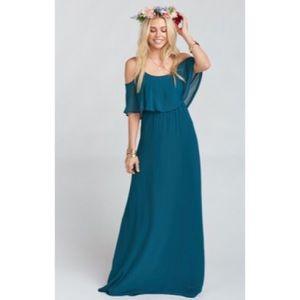 🌻🆕 SMYM ♡ Caitlin Ruffle Maxi Gown ♡ Deep Jade